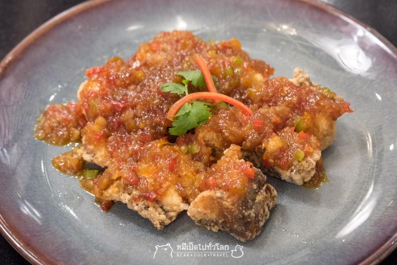 รีวิว ร้านอาหาร อาหารไทย กรุงเทพ ราชประสงค์ ปลาทอด ราดพริก