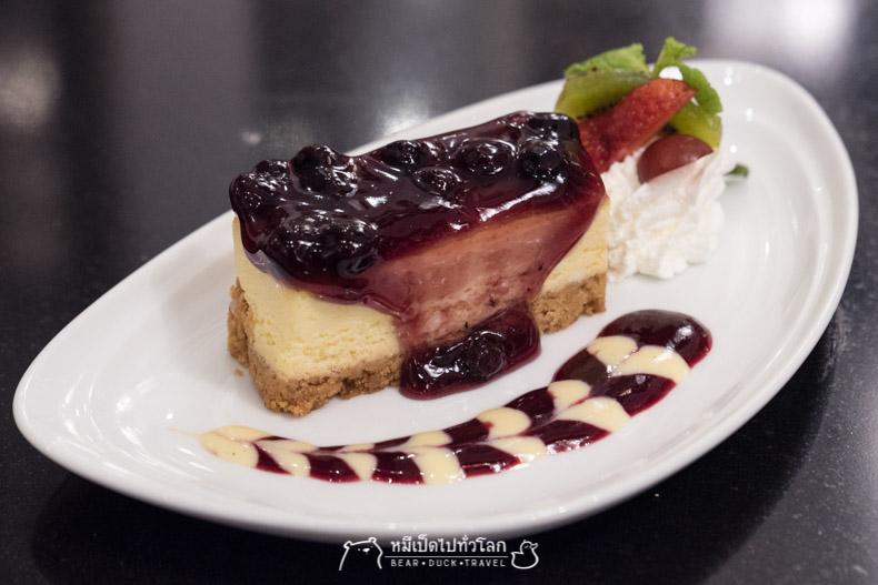 รีวิว ร้านอาหาร อาหารไทย กรุงเทพ ราชประสงค์ ขนม ของหวาน บลูเบอรี่ชีสเค้ก