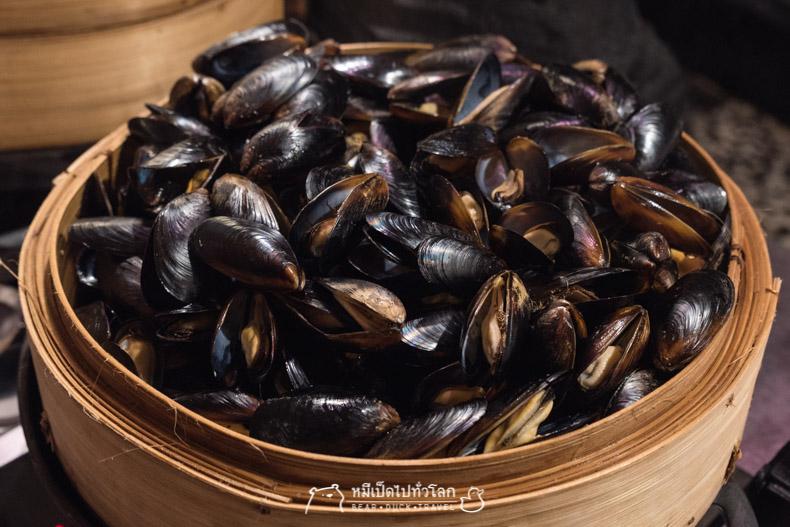 รีวิว ร้านอาหาร โรงแรม บุฟเฟ่ต์ อาหารทะเล อาหารญี่ปุ่น ปู แซลม่อน ทูน่า หอยแมลงภู่ Atelier