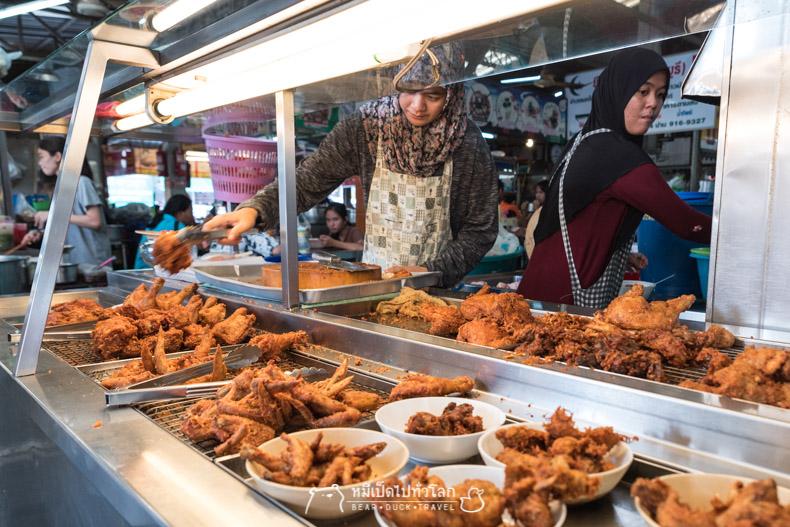 รีวิว ร้านอาหาร ตลาดมีนบุรี ไก่ทอด หาดใหญ่