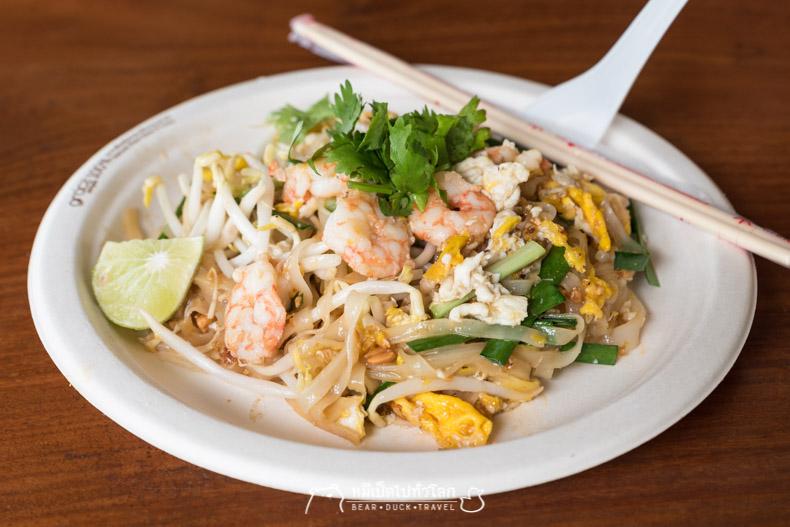 รีวิว ผัดไทย ร้านอาหาร ของกิน อร่อย บ้านบึง ชลบุรี