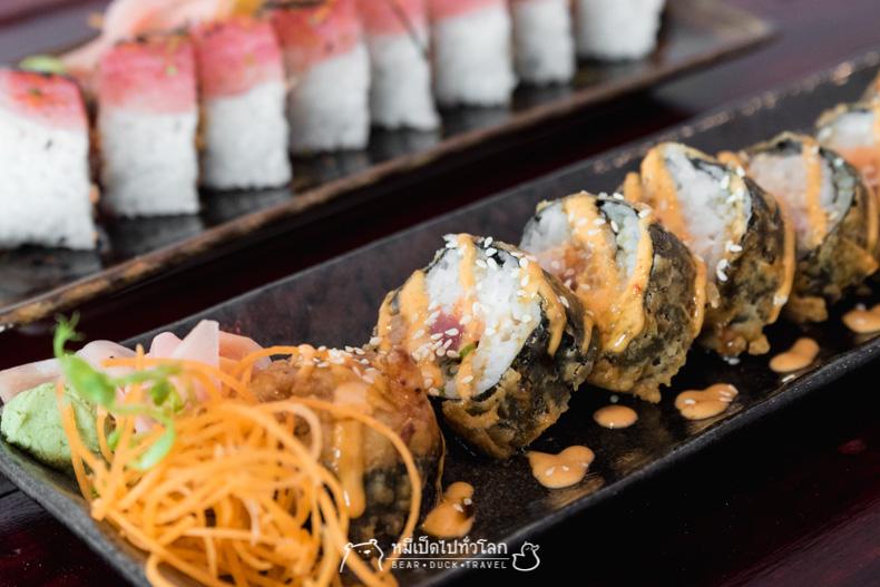 รีวิว ร้านอาหารญี่ปุ่น ซูชิ ราคาถูก ลาดกระบัง