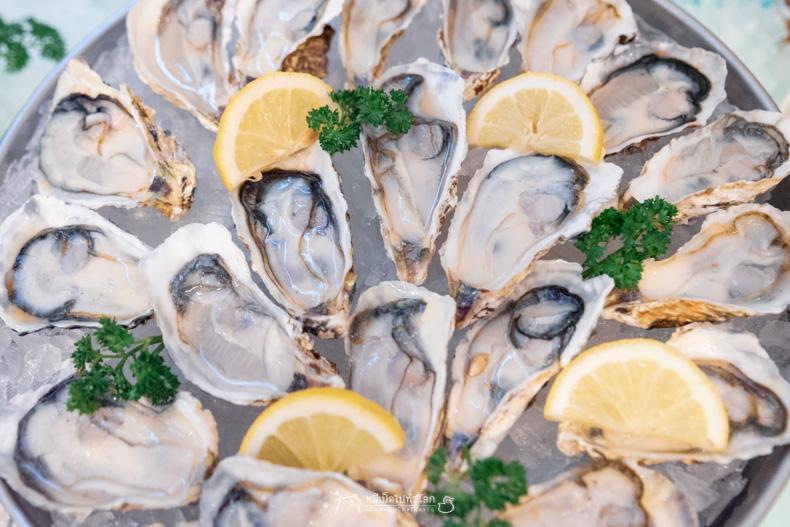 รีวิว อาหาร บุฟเฟ่ต์ ทะเล ซีฟู้ด หอยนางรม