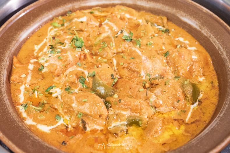 รีวิว อาหาร บุฟเฟ่ต์ แกง ไก่ อาหารอินเดีย