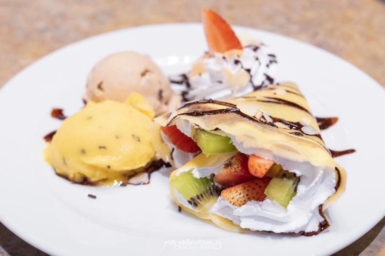 รีวิว อาหาร บุฟเฟ่ต์ เครป ไอศครีม ไอศกรีม ขนม ของหวาน