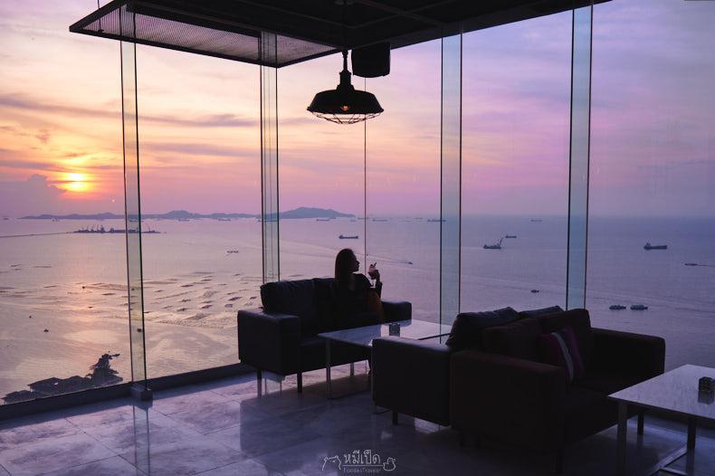 รีวิว Oakwood Hotel ที่พักติดทะเล วิวสวยสุดในศรีราชา และห้องอาหาร Atara Sky