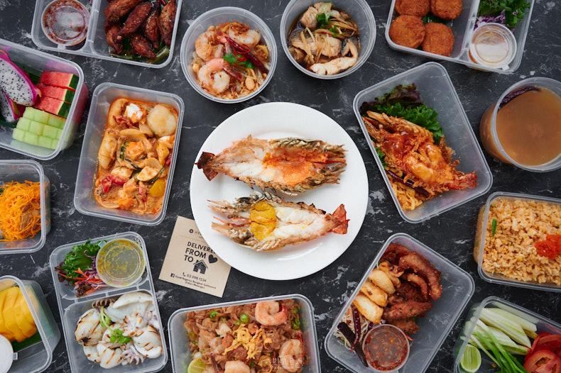 รีวิว Hyatt Regency Bangkok Sukhumvit อาหารโรงแรมและกุ้งแม่น้ำเผาเดลิเวอรี่ 15 เมนู 1299 บาท